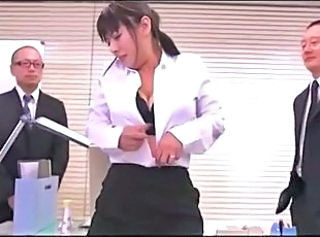 Asian Japanese Office Threesome
