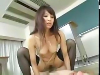 Asian Japanese MILF Riding School Stockings Teacher