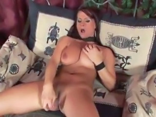 Big Tits Masturbating MILF Toy