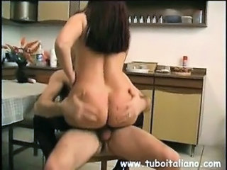 Ass European Italian Kitchen MILF Riding