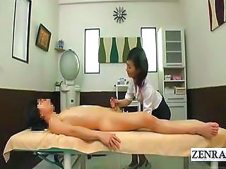 Asian CFNM Handjob Japanese Massage