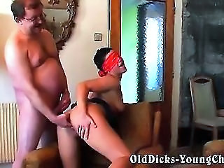 "grandpa blindfolded young babe"" class=""th-mov"