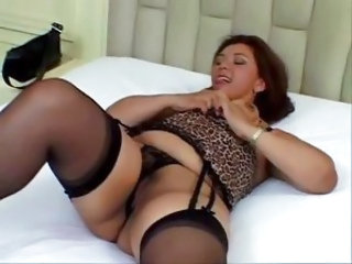 BBW Lingerie MILF Panty Stockings