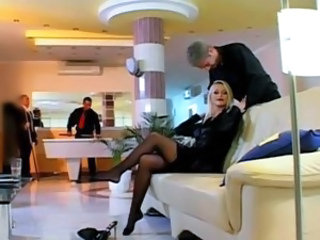 Legs MILF Public Stockings