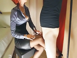Corset Handjob MILF Stockings