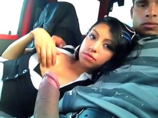 Amateur Blowjob Car Girlfriend Latina Teen