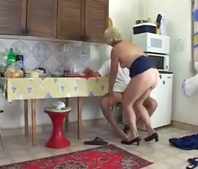 Kitchen Mature Mom Old and Young