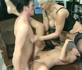 Facesitting MILF Swingers Threesome