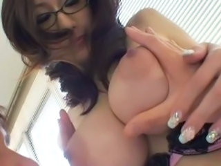 Asian Big Tits Glasses MILF Natural Nipples Teacher