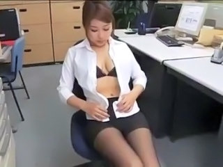 Asian Babe Cute Korean Office Pantyhose Secretary Solo