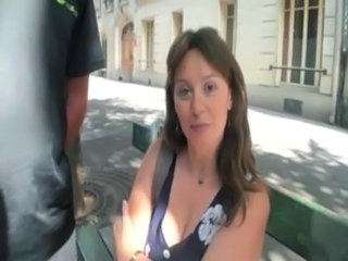 French Mature Outdoor Public