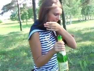 Drunk Outdoor Teen