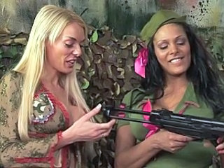 Army British European MILF Pornstar Threesome Uniform