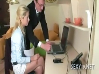 Daddy Old and Young Russian Teacher Teen