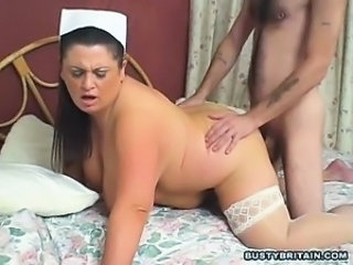 BBW Big Tits Doggystyle Hardcore Mature Mom Nurse Old and Young Stockings