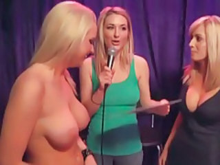 Playful fun with big titty babes on playboy radio tubes