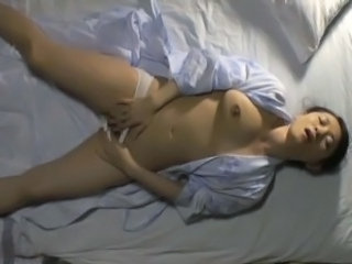 Asian Masturbating MILF Mom SaggyTits