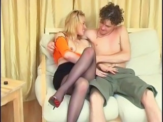 Blonde MILF Pantyhose Russian