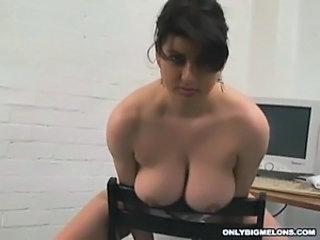 Big Tits Chubby MILF Natural Nipples Office Secretary