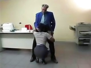 Blowjob Clothed Daddy Office Old and Young Secretary