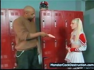 Cheerleader Interracial School Teen Uniform Young