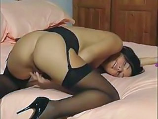 Ass British Masturbating Stockings