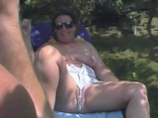 Amateur MILF Outdoor SaggyTits Wife
