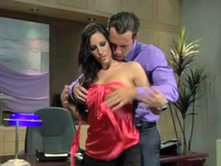 Amazing Brunette MILF Office Pornstar Secretary
