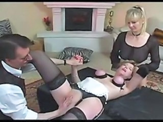 Bondage Maid MILF Threesome Uniform