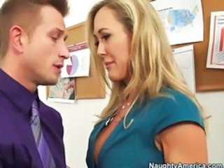 Blonde MILF Office Old and Young Pornstar Secretary