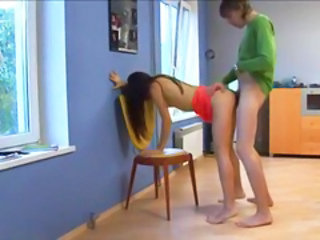 Doggystyle Forced Kitchen Russian Teen
