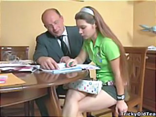 Daddy Long hair Old and Young Teacher Teen