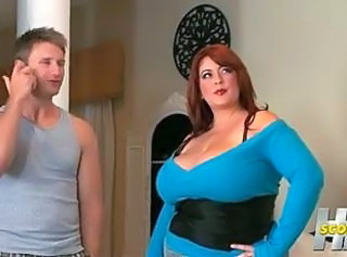 BBW Big Tits MILF Mom Natural Old and Young Redhead