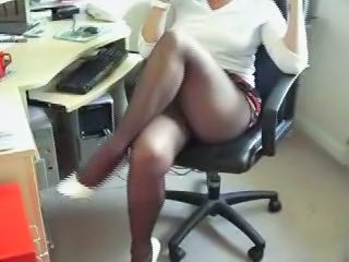 Legs Office Pantyhose Secretary Upskirt