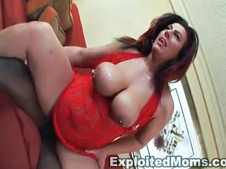 BBW Big Tits Hardcore Interracial MILF Mom Natural Nipples Piercing Riding