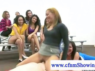 Cfnm show girls watching public blowjobs