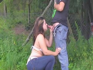 Blowjob Chubby Outdoor