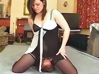 Facesitting Femdom MILF Stockings