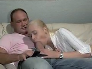 Big cock Blowjob Clothed Daddy Daughter Old and Young Teen