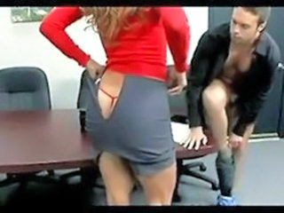Mature Office Panty Skirt