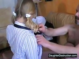 Amateur Daddy Old and Young Pigtail