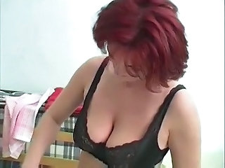 Lingerie Mature Natural Redhead