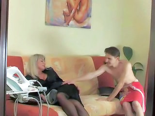 Legs Mature Mom Old and Young Stockings
