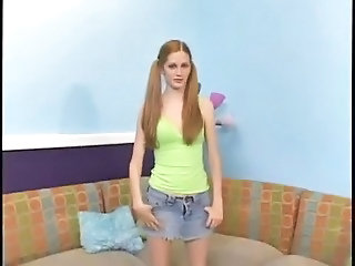Casting Cute Pigtail Skirt Teen