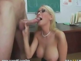 Big cock Big Tits Blonde Blowjob Bus Glasses MILF School Teacher