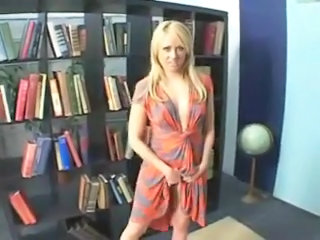 Beautiful girls fuck in library  amp; swallow cum