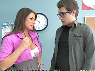 big breast brunette woman celebrity professor