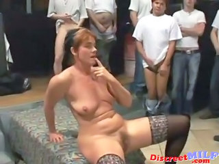 Bukkake Gangbang Mature SaggyTits Stockings