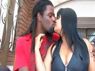 Interracial Kissing MILF
