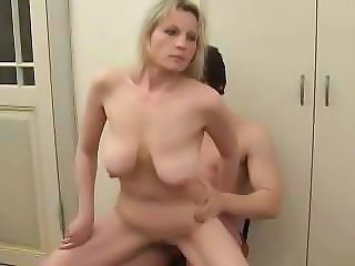 MILF Riding Russian SaggyTits